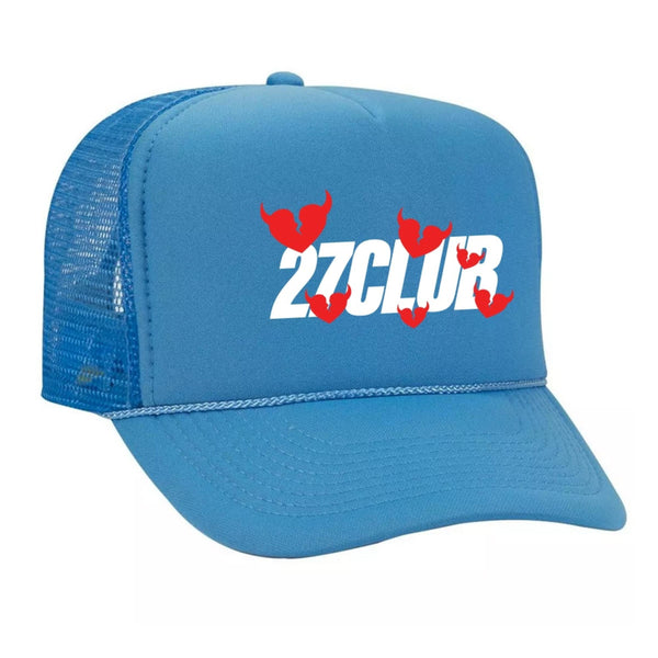 27 CLUB HEARTS TRUCKER HAT BLU