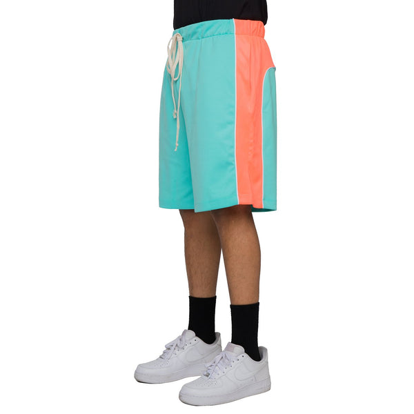 Piping Track Shorts MINT/CORAL