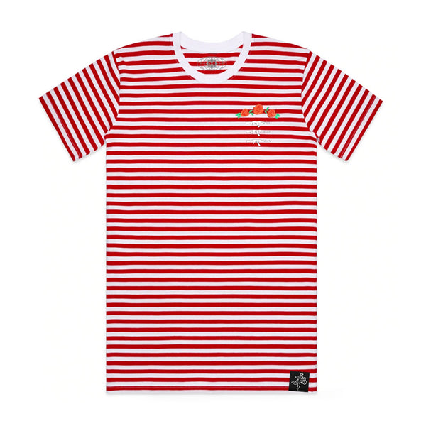 3 AK Rose Seal Stripe Tee Red / White