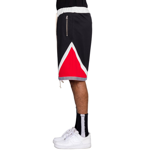 Tri-Color Shorts Black/White/Red