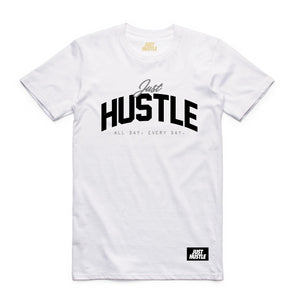 All Day Hustle Tee White