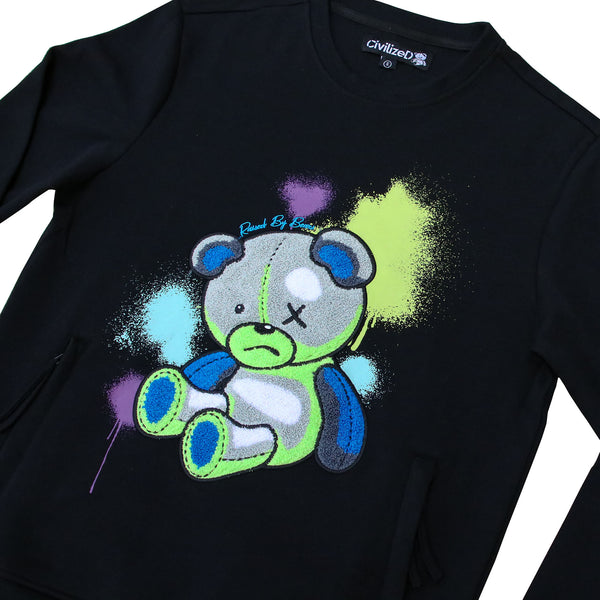 BEAR PAINT BLAST CREWNECK BLACK