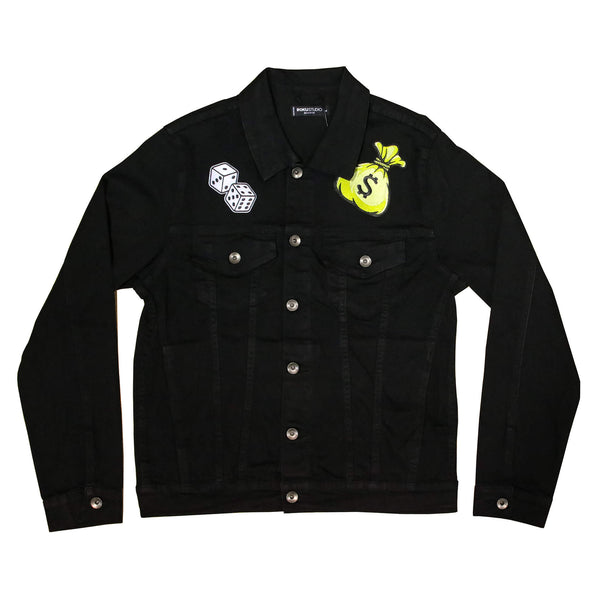 ANGEL MONEY BAG DENIM JACKET