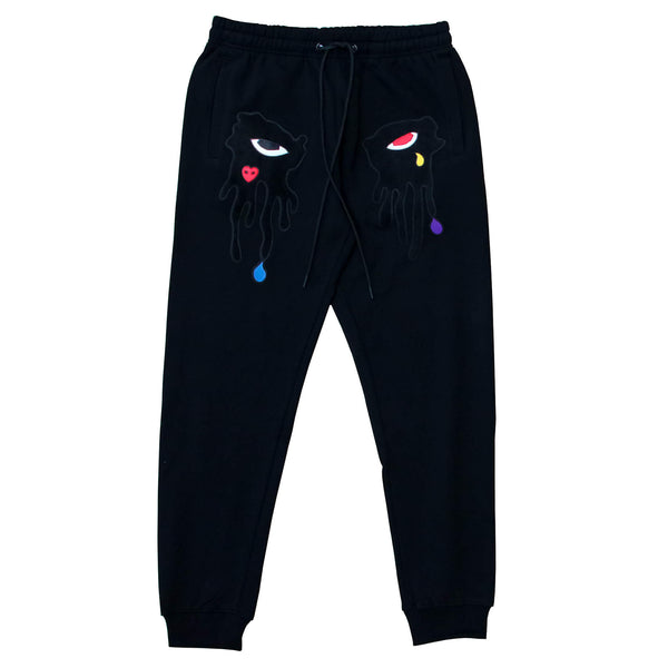 TEAR DRIPPING JOGGER BLACK