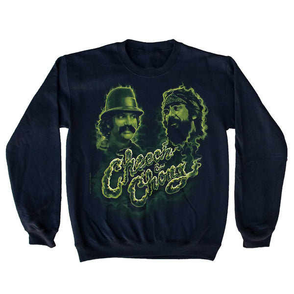 CHEECH & CHONG GREEN SMOKE CREW NECK