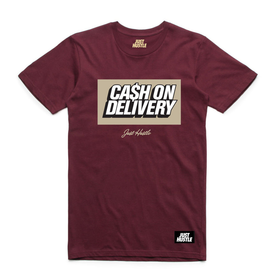 Cash On Delivery Tee Burgundy