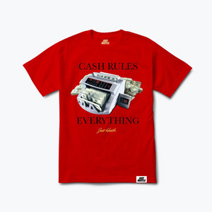 Cash Rules Tee Red