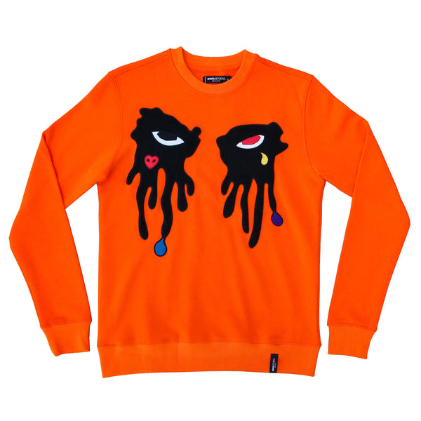 TEAR DRIPPING CREWNECK ORANGE
