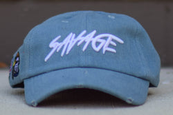 Savage Hat Denim/White