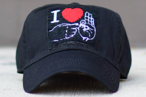 Sign Language Hat Black