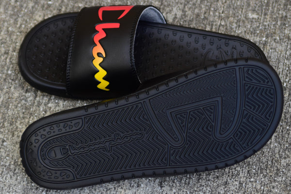 Champion slides Black/Rainbow