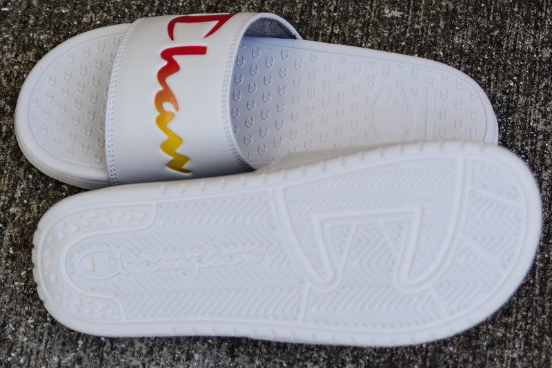 Champion Slide White/Rainbow