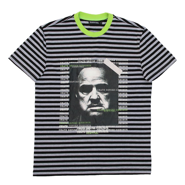 DEATH BEFORE DISHONOR STRIPED GRY/BLK/NEON