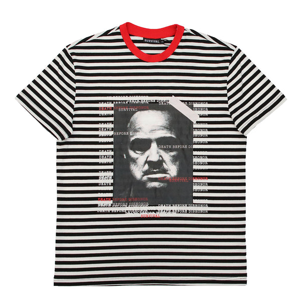 DEATH BEFORE DISHONOR STRIPED WHT/BLK/RED
