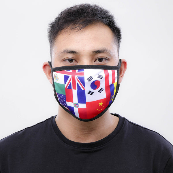 INTERNATIONAL FLAG FACE MASK MULTI