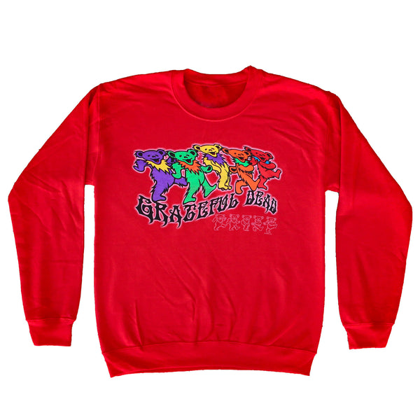 GD TRIPPY BEARS RED CREW NECK