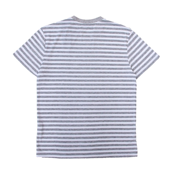 SOTF STRIPED TEE GRY/WHT LOGO