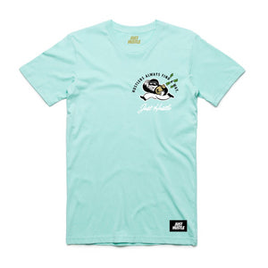Hustlers Find Ways Tee Aqua