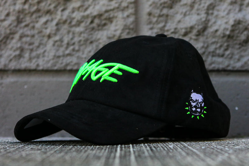 Savage Hat BLK/Neon Green