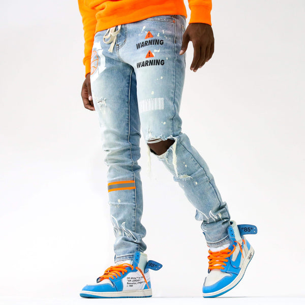 HAZARD ORANGE DENIM