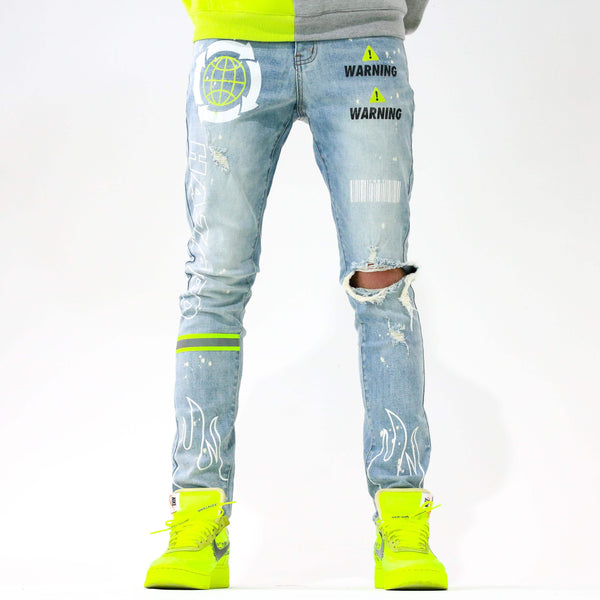 HAZARD GREEN DENIM