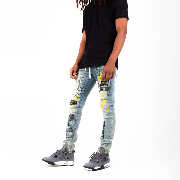 BARBED DENIM