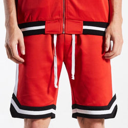 JAMES TRACK SHORTS RED/WHT