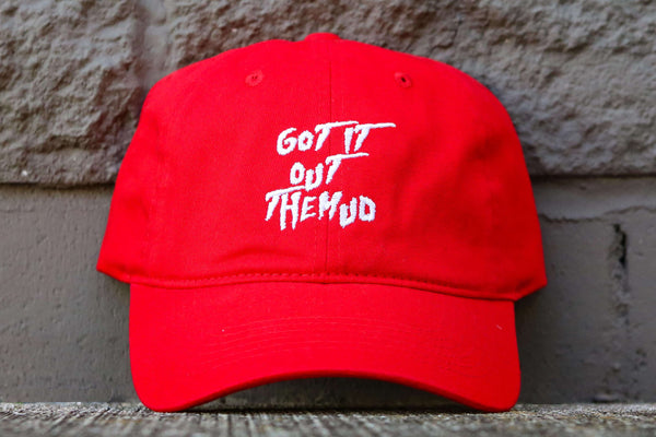 GOT IT OUT THE MUD DAD HAT RED