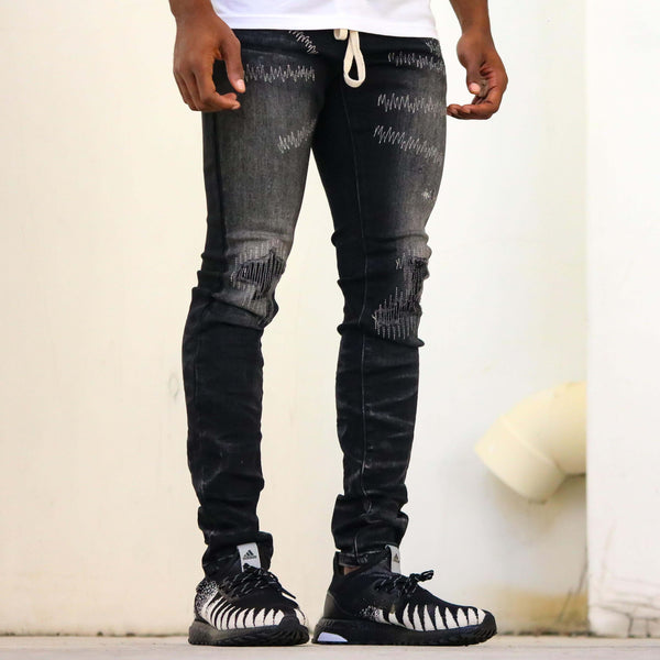 RIP N REPAIR DENIM BLACK