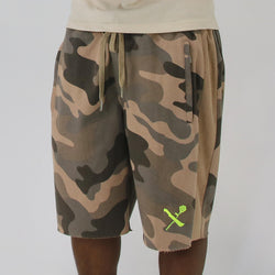 SRVL TAN WOODLAND/VOLT SHORTS