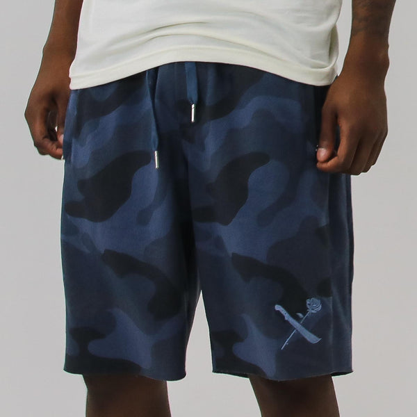 SRVL MIDNIGHT BLUE CAMO SHORTS