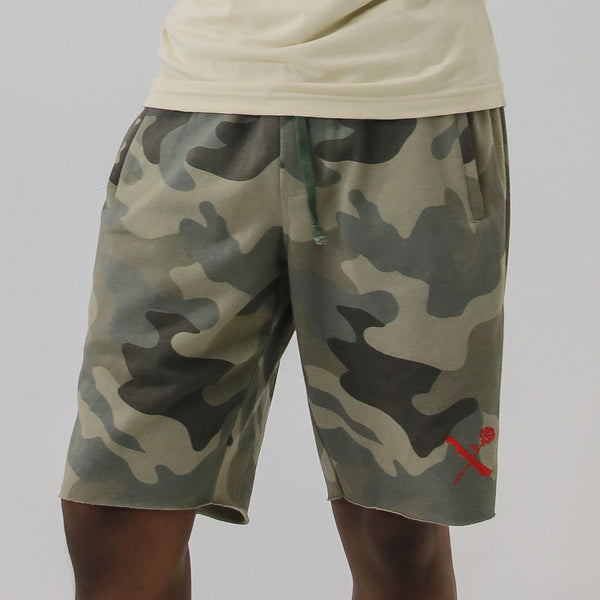 SRVL WOODLAND/RED SHORTS