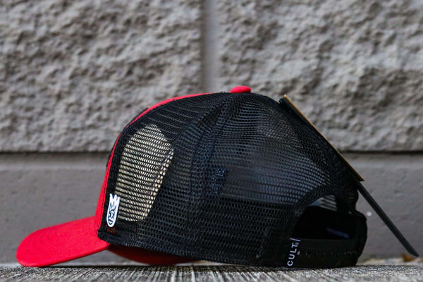 WINGS MESH TRUCKER W/CURVE RED
