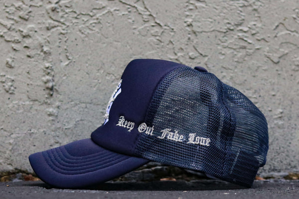 NYC LOVE NAVY TRUCKER HAT