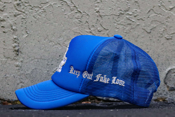 LA LOVE BLUE TRUCKER HAT