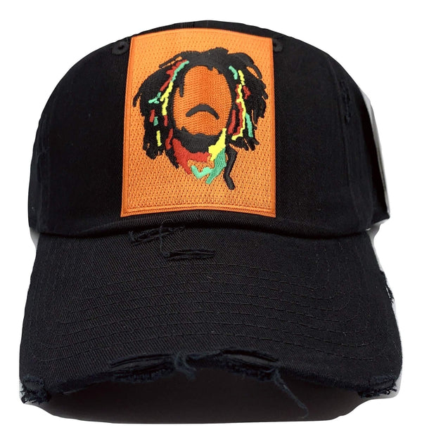 RASTA FACE HAT BLK