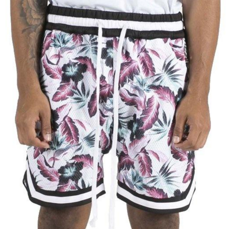 JORDAN BALL SHORTS WHITE FLORAL