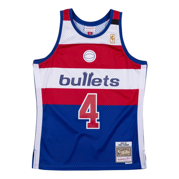 SWINGMAN JERSEY WASHINGTON BULLETS 1996-97 CHRIS WEBBER
