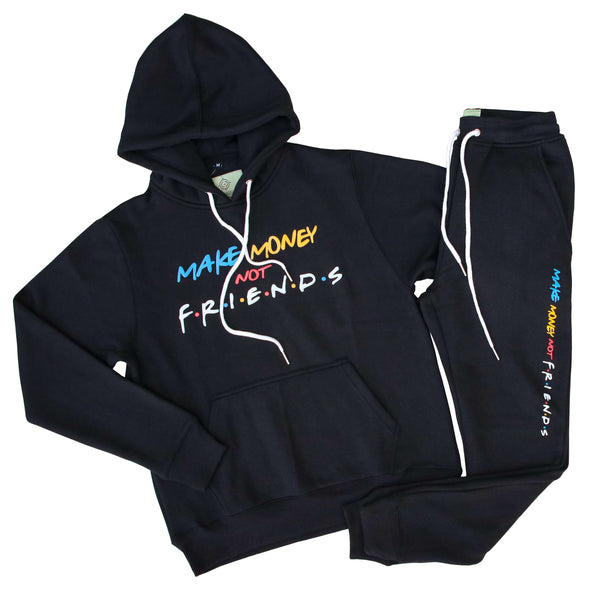 MAKE MONEY NOT FRIENDS SWEATSUIT BLK