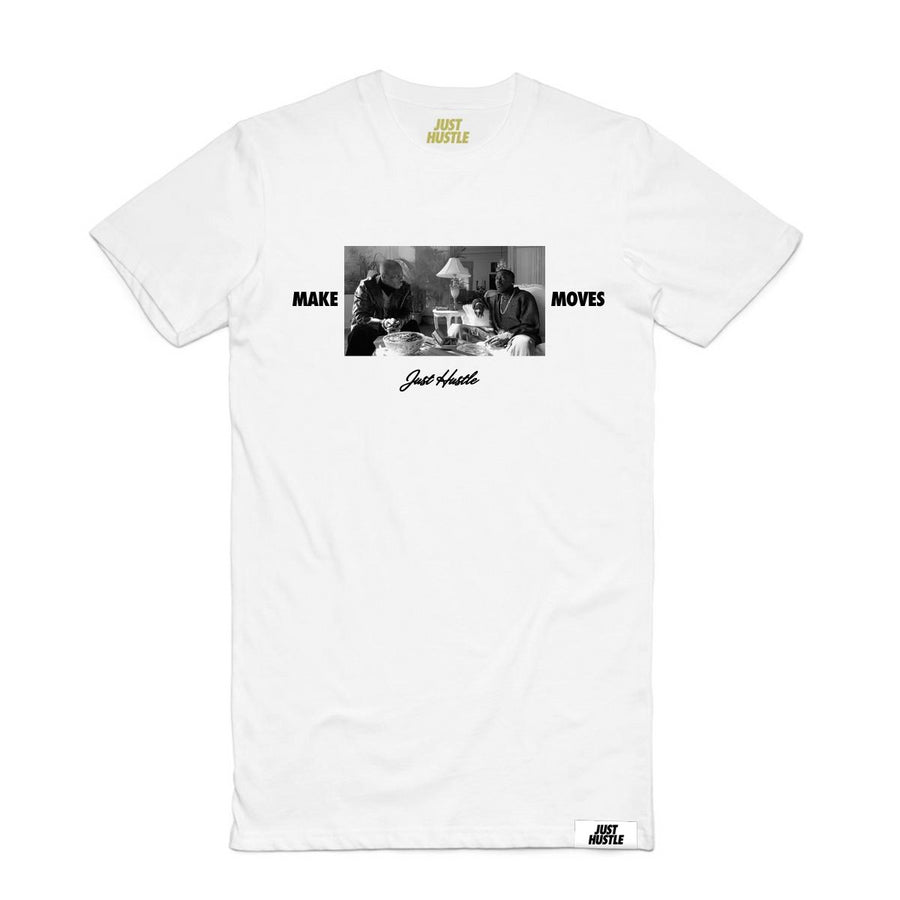 Make Moves Tee White