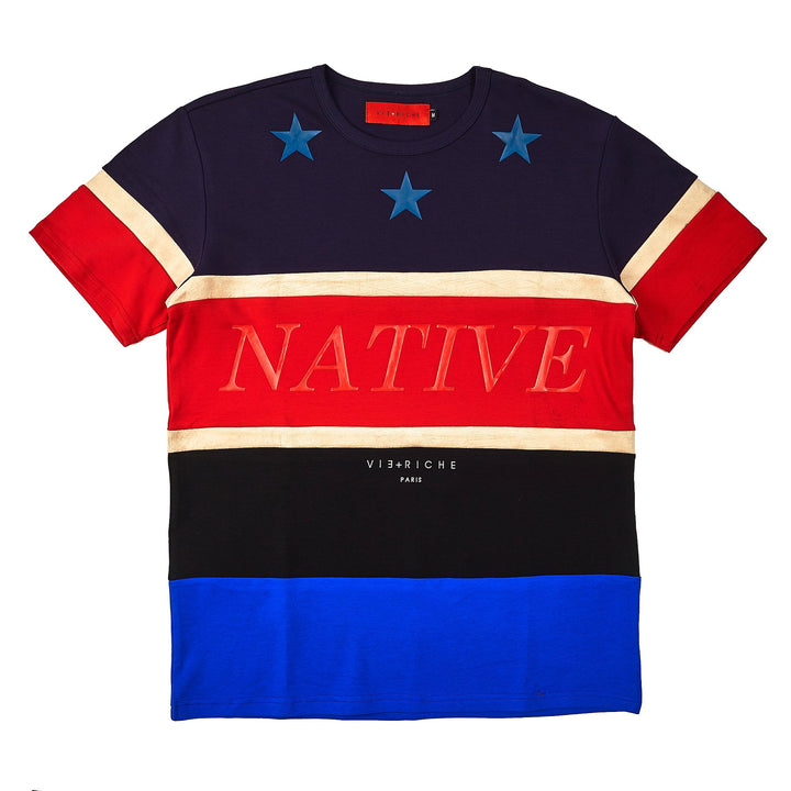Native Color Block Tee NVY