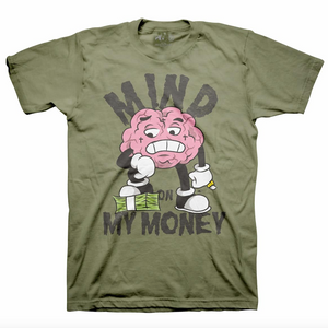 MONEY ON MY MIND TEE OLIVE