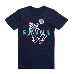 Pray for Survival Navy/Teal