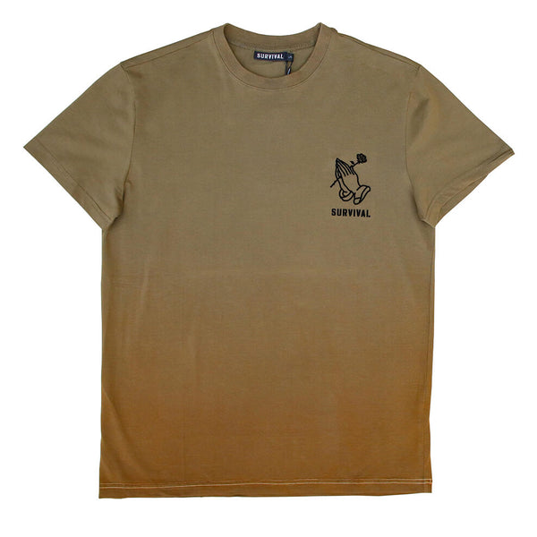 SRVL OMBRE OLIVE TEE