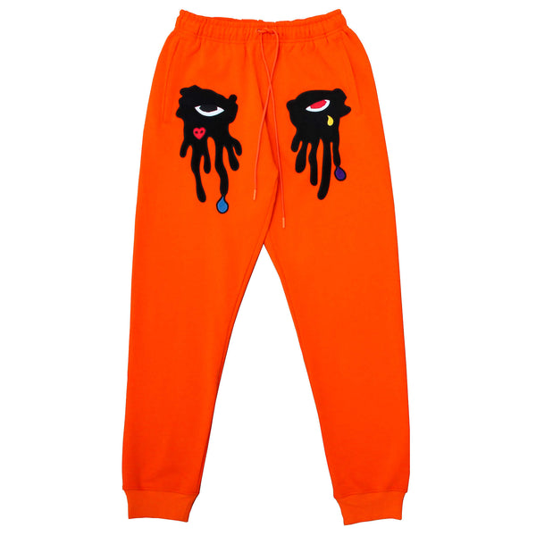 TEAR DRIPPING JOGGER ORANGE