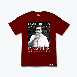 Pablo Cash Rules Everything Tee Burgundy