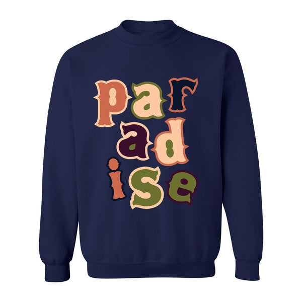 PARADISE LETTERS CREW NECK NVY