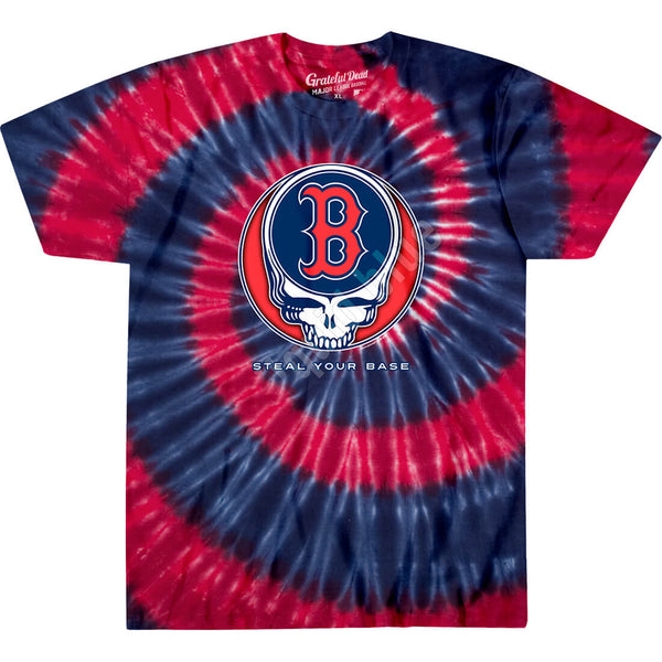 BOSTON RED SOX STEAL YOUR BASE TIE-DYE