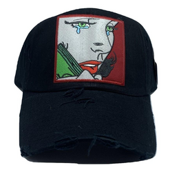 RICH TEARS HAT BLK