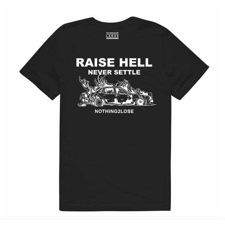 Raise Hell Tee Black